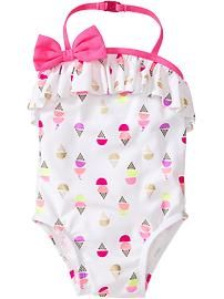 Ice Cream-Print Swimsuits for Baby