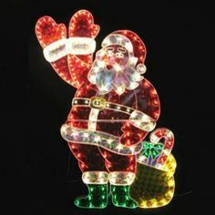 christmas animated decorations 48 motion waving hand santa holographic sculpture american sale - Animated Christmas Decorations