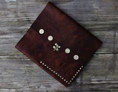 Leather iPad portfolio case with 12 Gauge by StickDogLeather