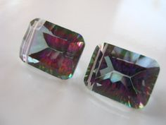 SALE Pair of Stunning AAA Mystic Rainbow Topaz by BohoBoutique, $56.18