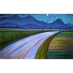Werner Berg Unterkärntner Nachtlandschaft 1958 Painting, Art, Woodblock Print, Art Pieces, Watercolour, Landscape, Drawing S, Pictures, Art Background
