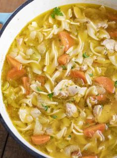 Chicken Noodle Soup is a classic soup recipe made with chicken carrots celery onion and egg noodles in a seasoned broth ready in under 45 minutes Chicken Soup Recipes, Chicken Noodle Soup, Easy Soup Recipes, Healthy Recipes, Keto Recipes, Noodle Soups, Oven Recipes, Noodle Recipes, Salad Recipes