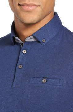 Main Image - Ted Baker London Woven Trim Polo (Tall)
