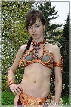 Elf Fantasy Fair Haarzuilens 2011 -- Slave Leia costume -- Star wars