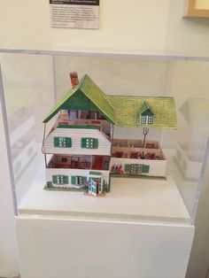 Paper model of Anne of Green Gables house on view at the National Building Museum