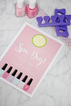 Project Nursery - Spa Day Invitation