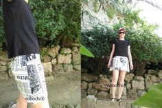 Look NOBOCHI® for bookworms! Skirt 100% cotton by NOBOCHI® #ootd #fashion #ateliernobochi #fashion #summer