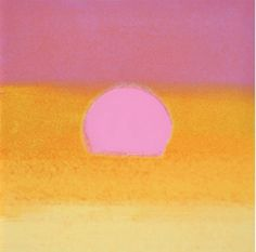 Andy Warhol, Sunset (Unique) (Pink/Yellow)