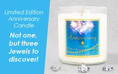 With our anniversary finally here, what better way to celebrate than with our most exclusive JewelScent product ever? Introducing, our commemorative 3-Ring anniversary Candle. This limited edition candle is so special, it doesn't just have one jewel but three! Supplies are extremely limited, so claim yours today! www.jewelscent.com/KarinGriffis