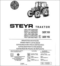 Steyr 980 1090 1100 Spare Parts Catalog List is a tool