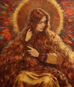 """Autumn"" by artist Vladimir Kireev Classical Art, Renaissance Art, Pretty Art, Aesthetic Art, Oeuvre D'art, Art Inspo, Painting & Drawing, Painting Tips, Watercolor Painting"