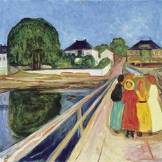 Edvard Munch - Girls on a Bridge - 1902. Professional Artist is the foremost…