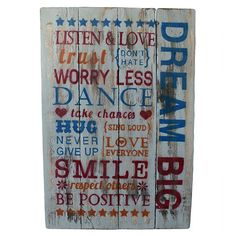 Rough Wooden Sign - Dream Big