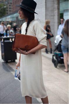 White sweater dress #minimalist #fashion #style