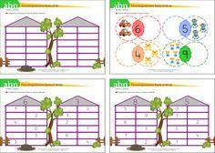 Método ABN. Descomponemos números hasta el 10 Math For Kids, Math Activities, Ideas Para, Martini, Education, Learning, School, Club, Children