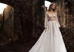 35 Illuminating and Other-Worldly Wedding Dresses via Truly and Madly