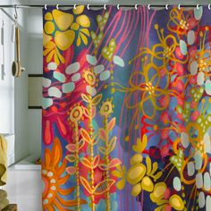 Stephanie Corfee Bluesy Shower Curtain
