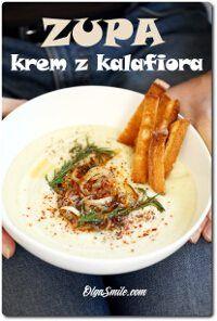 Zupa krem z kalafiora Eat Lunch, Cream Soup, Hummus, Ramen, Cauliflower, Food And Drink, Dinner, Ethnic Recipes, Smile