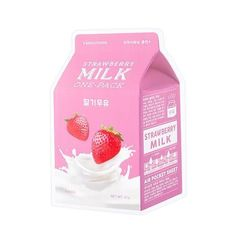 $1.68 - [A'Pieu] Milk One Pack Strawberry 21G1Pcs - Made In Korea #ebay #Fashion