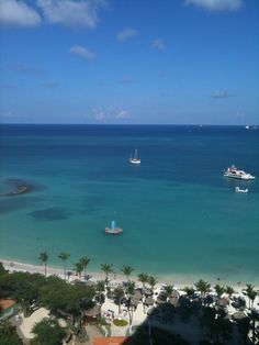 Aruba-This side of the island is white sand & calm blue water, Beautiful!