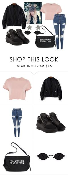 """""""на прогулку"""" by kfhfkkb ❤ liked on Polyvore featuring Topshop and Undercover"""
