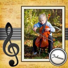 Free MyScrapNook #templates for your talented young #musicians!