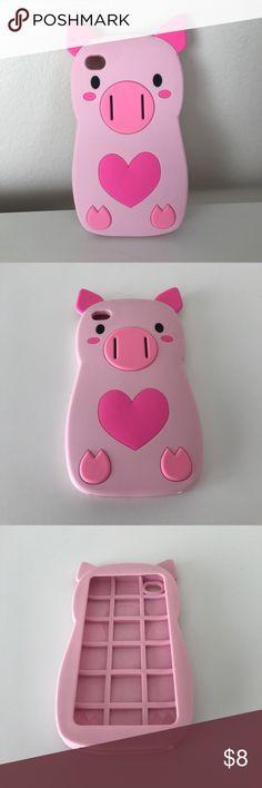 I phone 5/5s piggy case Nwot piggy I phone rubber phone case Accessories