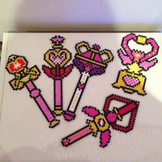 Sailor Moon perler beads by scarletsparkle My mother in law made me this and a sailor moon