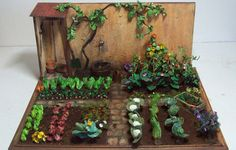 doll house miniature garden by fortislandminiatures on Etsy, $180.00