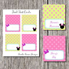 INSTANT DOWNLOAD Minnie Mouse Bowtique Food Tent Cards (Customization available)  sc 1 st  Pinterest & Diy Minnieu0027s Bow-tique Food Label or Name place card Tabel tent ...