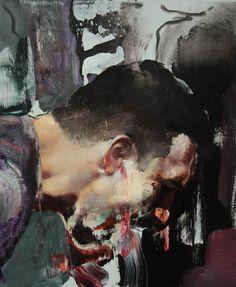 Adrian Ghenie. Selfportrait, 2010. Courtesy Tim Van Laere Gallery, Antwerp