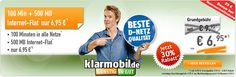 500MB Telekom Handyvertrag mit 100 Freiminuten für 6,95€ http://www.simdealz.de/telekom/klarmobil-smart-flat/