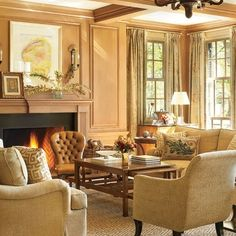 ~A Gracious, Southern-Style Home in Tennessee : Architectural Digest -Suzanne Kasler Living Room Nook, Living Room Plan, Home And Living, Living Spaces, Living Rooms, Family Rooms, House Design Photos, Family Room Decorating, Southern Style
