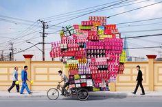 Imágenes divertidas: Repartidor en bici → #Fotosgraciosas #Imagenescomicas #Imagenesconhumor #imagenesdivertidas #imagenesgraciosas