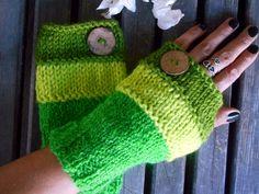 Green Gloves,Handmade,Knit Glove,Hand Warmer,Crochet Gloves,Fingerless Glove,Winter Gloves,Women Gloves,Arm Warmers,Crochet Glove,Gift Ideas by YASEMINYASEMIN on Etsy