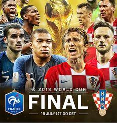 The World Cup Final 2018 France vs. Croatia Fifa World Cup 2018 Russia World Cup Final 2018, France World Cup 2018, World Cup Russia 2018, France 2, Soccer World Cup 2018, Fifa World Cup 2018, Cr7 Messi, Neymar, Football Art