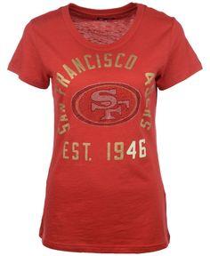 G3 Sports Women's Short-Sleeve San Francisco 49ers Sequin T-Shirt