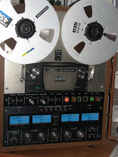 Akai GX-400D-SS reel to reel tape recorder in the Museum of Magnetic Sound Recording