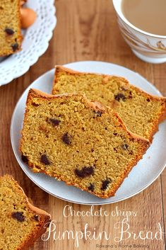 Easy, super moist chocolate chips pumpkin quick bread packed with all the amazing fall flavors.