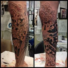 japanese tattoos black and grey - Google Search