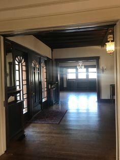 Simpson House main entry rooms / dark wood