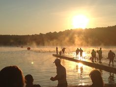 Triathlon-sunrise before the swim-Long Island, NY