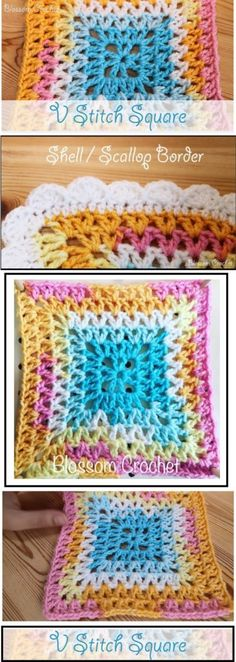 V Stitch Square Tutorial