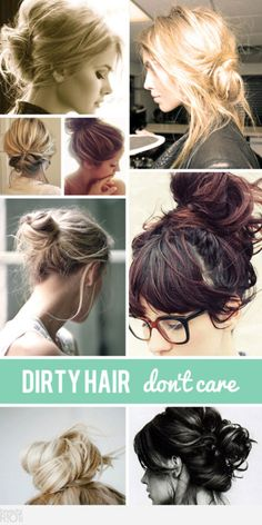 Psh. If ONLY my dirty hair would look like this. My Mom is 1/2 oil and she passed it on.