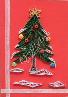 Quilled Christmas Tree - Unknown Quiller