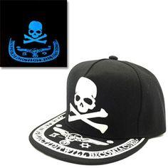 Glow in the Dark Snapback Skull Baseball Cap    https://www.skullflow.com/collections/skull-caps/products/glow-in-the-dark-snapback-skull-baseball-cap