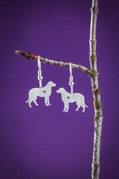 Labrador Earrings. 30% proceeds from every purchase goes to animal charities.