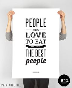 Graphic Design poster, Julia Child, Printable File, Vintage Retro Quote Art, Cooking print