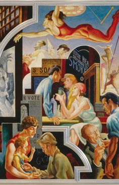"Thomas Hart Benton. Detail of ""America Today,"" 1930–31. Permanent collection of the Metropolitan Museum of Art."