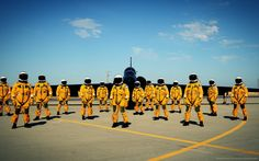 The U.S. Air Force still uses U-2 spy planes. This is a relatively recent picture of a U-2 crew. - Imgur